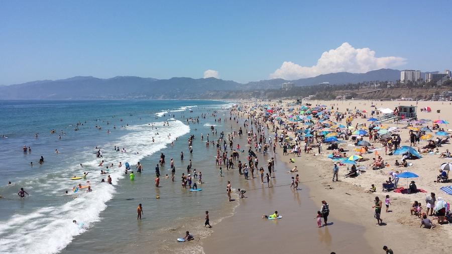 Santa Monica Beaches Close Sm Mirror